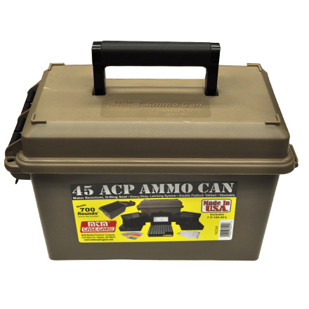 45 ACP Ammo Can (Includes  7 P-100-45S Ammo Boxes) Dark Earth
