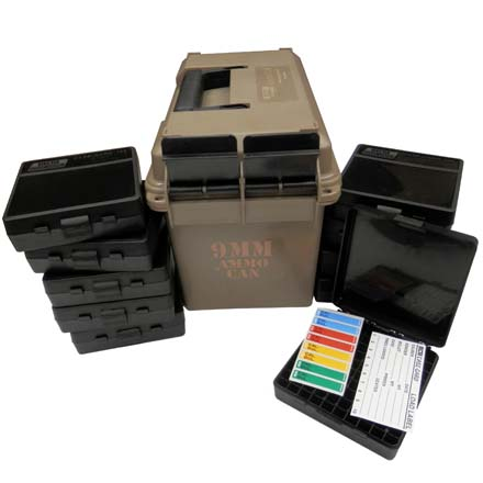 9mm Ammo Can (Includes 10 P-100-9S Ammo Boxes) Dark Earth