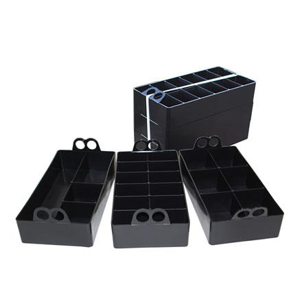 Image for 50 Caliber Ammo Can Organizer 3 Pack Black