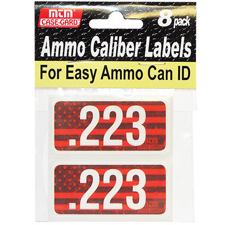 Ammo Caliber Labels for 223 Remington 8 Pack
