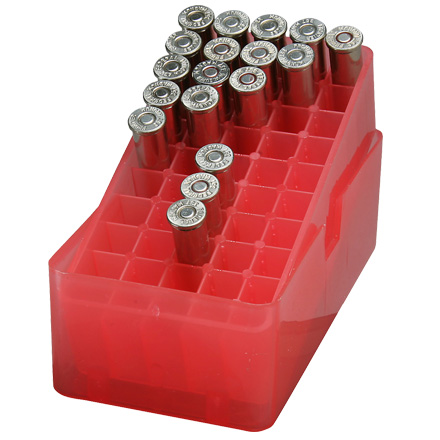 Slip Top 50  Red Ammo Box 38 /357 Mag /357 Max /38 ACP /38 Super