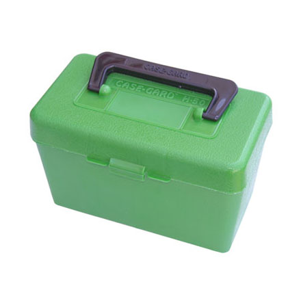 Handled 50 Round Ammo Box 25-06 /270 /280 /30-06 /8mm-06 Green