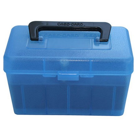 Handled 50 Round Ammo Box 17 /222 /222 Mag /223 Blue