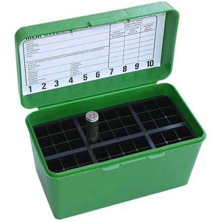 Image for Handled 50 Round Ammo Box 30-378 /375 H&H /378 Mag /500 Nitro Green