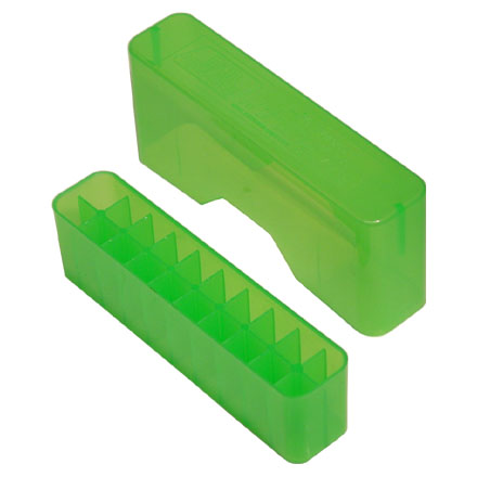 Slip Top 20 Round Ammo Box 22-250 /30-30 /7.62x9 Clear Green
