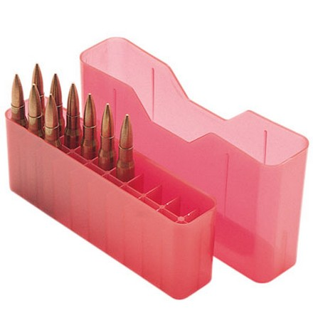 Image for Slip Top 20 Round Ammo Box 22-250 /243 /260 /7mm-08 /308 Red