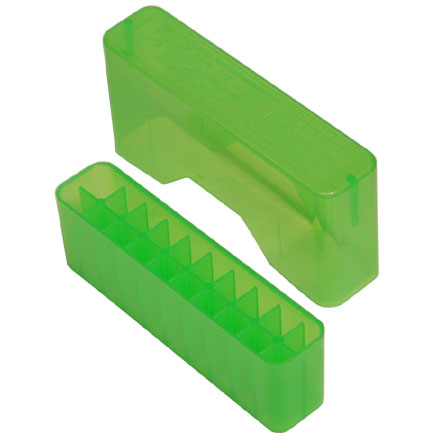 Image for Slip Top 20 Round Ammo Box 17 /222 /222 Mag /204 /223 Clear Green