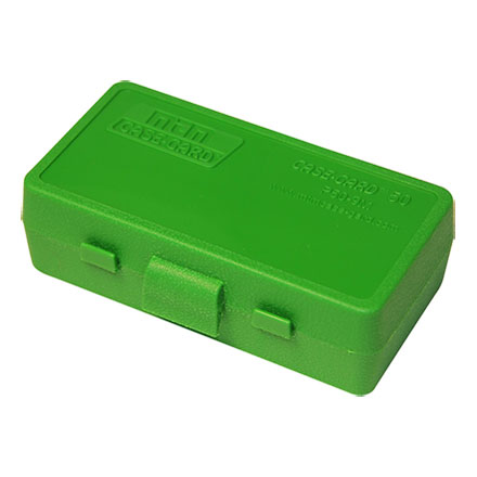 Flip Top 50 Round Ammo Box 32 ACP /32 Long Colt /25 ACP Green