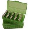 Flip Top 50 Round Ammo Box 38 Special /357 Mag /38 ACP Clr/ Green