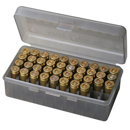 Image for Flip Top 50 Round Ammo Box 38 Special /357 Mag /38 ACP /38 Super