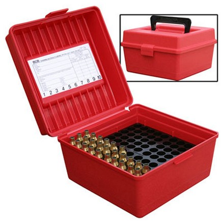 Handled Flip Top 100 Round Ammo Box Large Fat Bodied Magnum Rounds 458 SOCOM