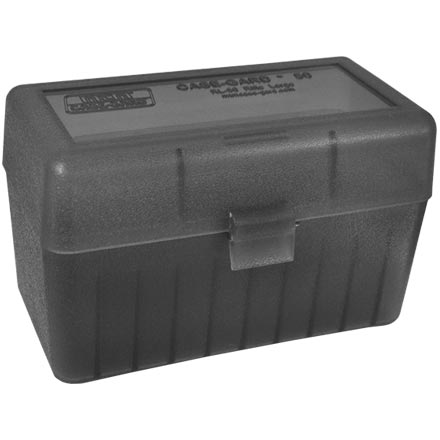 Flip Top 50 Round Ammo Box 270 Win, 30-06, 25-06 Clear Smoke