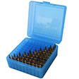 Flip Top 100 Round Ammo Box 22-250/308/243/7mm-08 Blue