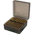 Flip Top 100 Round Ammo Box 22-250/308/243/7mm-08 Clear Smoke