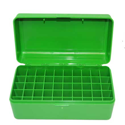 Flip Top 50 Round Ammo Box For WSM Calibers and 45-70 Green