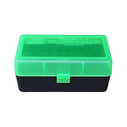 Flip Top 50 Round Ammo Box For WSM Calibers and 45-70 Green/Black