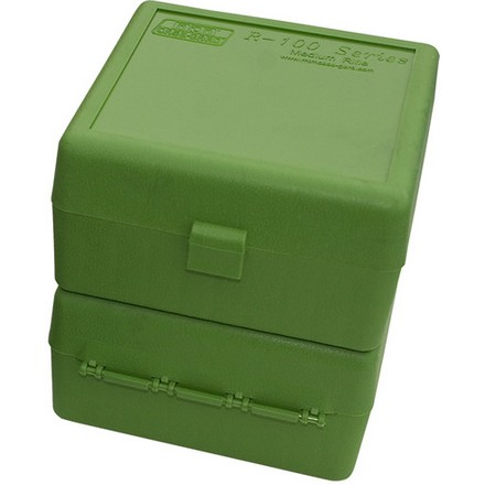 Flip Top 100 Round Ammo Box 17 /222 /222 Mag / 223 Green