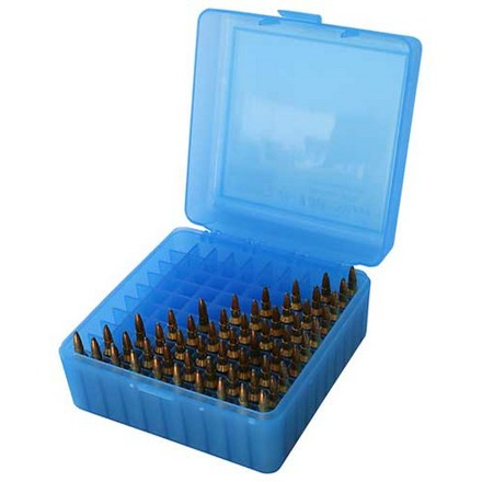 Image for Flip Top 100 Round Ammo Box 17 /222 /222 Mag / 223 Blue