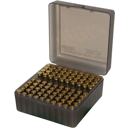Flip Top 100 Round Ammo Box 17 /222 /222 Mag / 223 Smoke