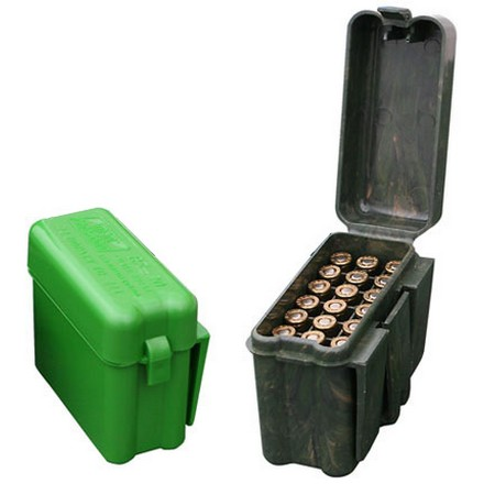 Flip-Top 20 Round Belt & Pocket Small Rifle Ammo Box .222/.222 Mag