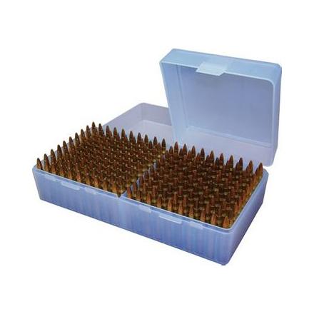 5.56x45 Flip Top 200 Round Ammo Box Clear Blue