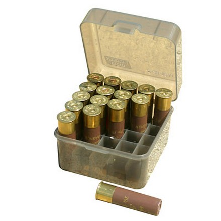 Flip Top 25 Round Deep Design Shotshell Ammo Box 10 and 12 Gauge Up To 3-1/2