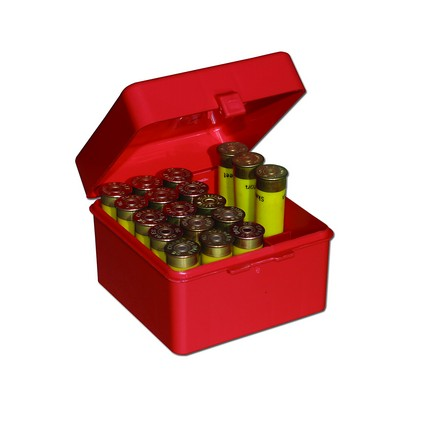 Flip Top 25 Round Shotshell Ammo Box 20 Gauge Up To 3