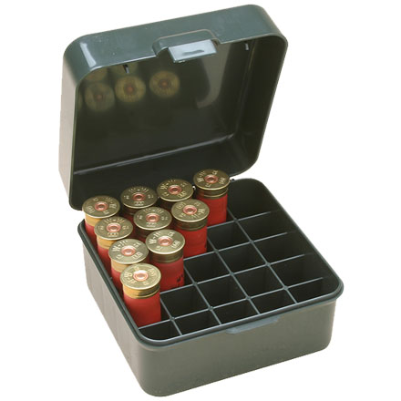 Flip Top 25 Round Dual Gauge Shotshell Ammo Box 12 and 20 Gauge Up To 3