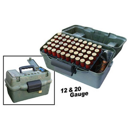 Flip Top 100 Round Shotshell Ammo Box With 2 50 Round