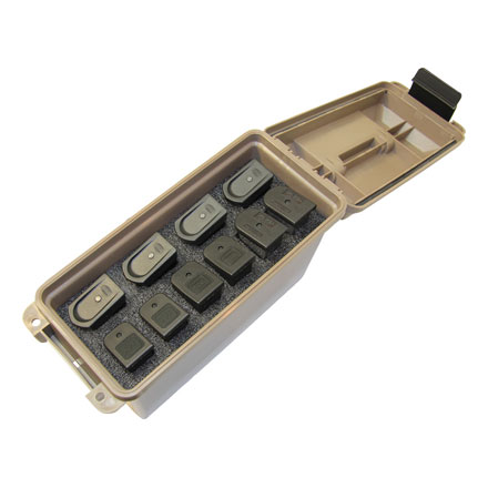 Tactical Mag Can (Holds 10 Double Stack Handgun Mags) Dark Earth