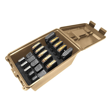 Image for Tactical Mag Can (Holds 10 30- Round AR Mags and 10 Double Stack Handgun Mags) Dark Earth