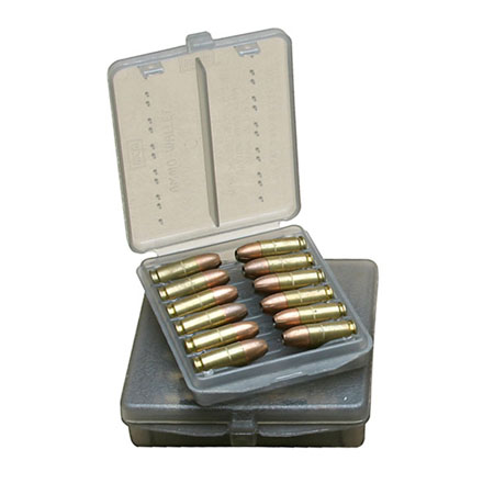 18 Round Ammo Wallet 9mm/380 Clear Smoke