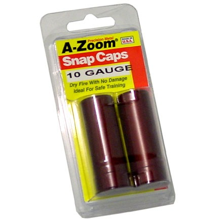 A-Zoom 10 Gauge Metal Snap Caps (2 Pack)