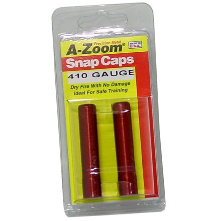 A-Zoom 410 Gauge Metal Snap Caps (2 Pack)