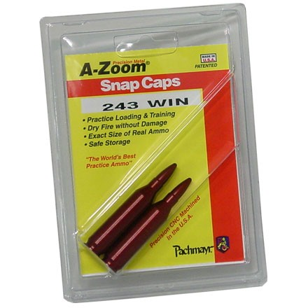 Image for A-Zoom 243 Winchester Metal Snap Caps (2 Pack)