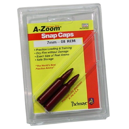 Image for A-Zoom 7mm-08 Remington Metal Snap Caps (2 Pack)