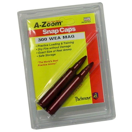 Image for A-Zoom 300 Weatherby Metal Snap Caps (2 Pack)