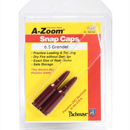 A-Zoom 6.5 Grendel Metal Snap Caps (2 Pack)