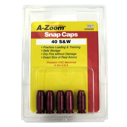 A-Zoom 40 S&W Metal Snap Caps (5 Pack)