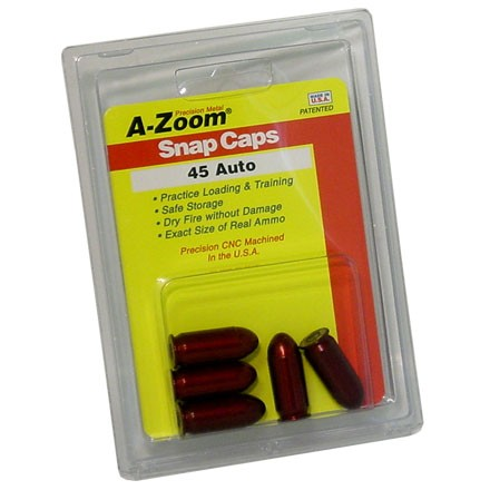 A-Zoom 45 ACP Metal Snap Caps (5 Pack)