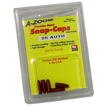 A-Zoom 25 Auto Metal Snap Caps (5 Pack)