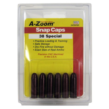 Image for A-Zoom 38 Special Metal Snap Caps (6 Pack)
