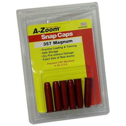 Image for A-Zoom 357 Magnum Metal Snap Caps (6 Pack)