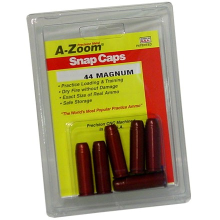 A-Zoom 44 Magnum Metal Snap Caps (6 Pack)