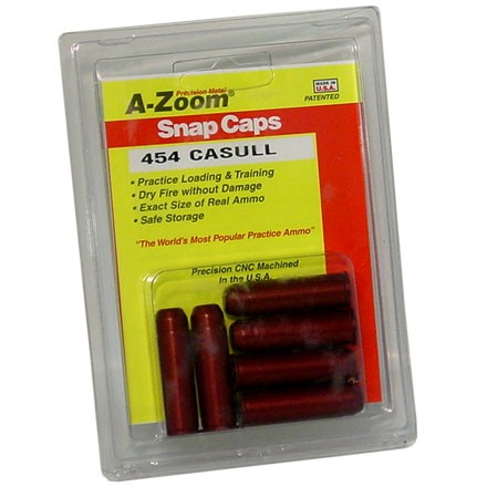 A-Zoom 454 Casull Metal Snap Caps (6 Pack)