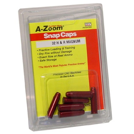 Image for A-Zoom 32 H&R Mag Metal Snap Caps (6 Pack)