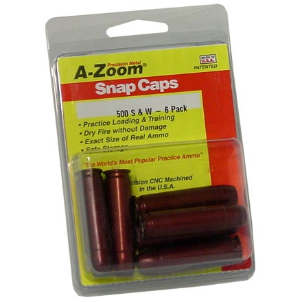 A-Zoom 500 S&W Metal Snap Caps (6 Pack)