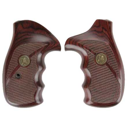 S&W K&L Frame Checkered Rosewood Deluxe Laminated Revolver Grip