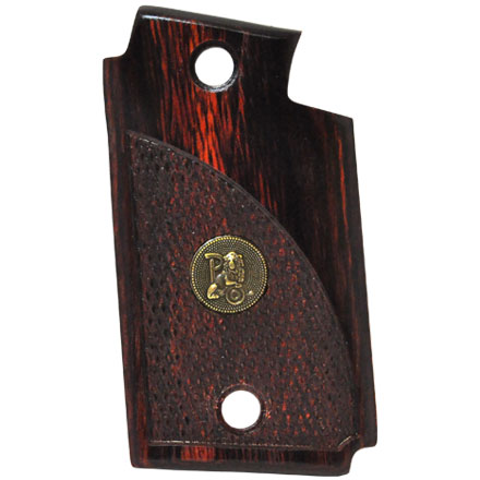 Sig P938 Checkered Rosewood Deluxe Laminated Wood Pistol Grip