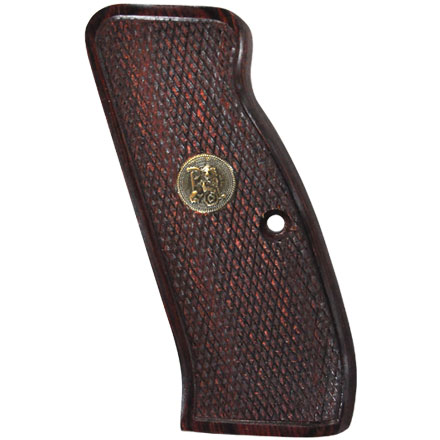CZ 75/85 Checkered Rosewood Deluxe Laminated Wood Pistol Grip